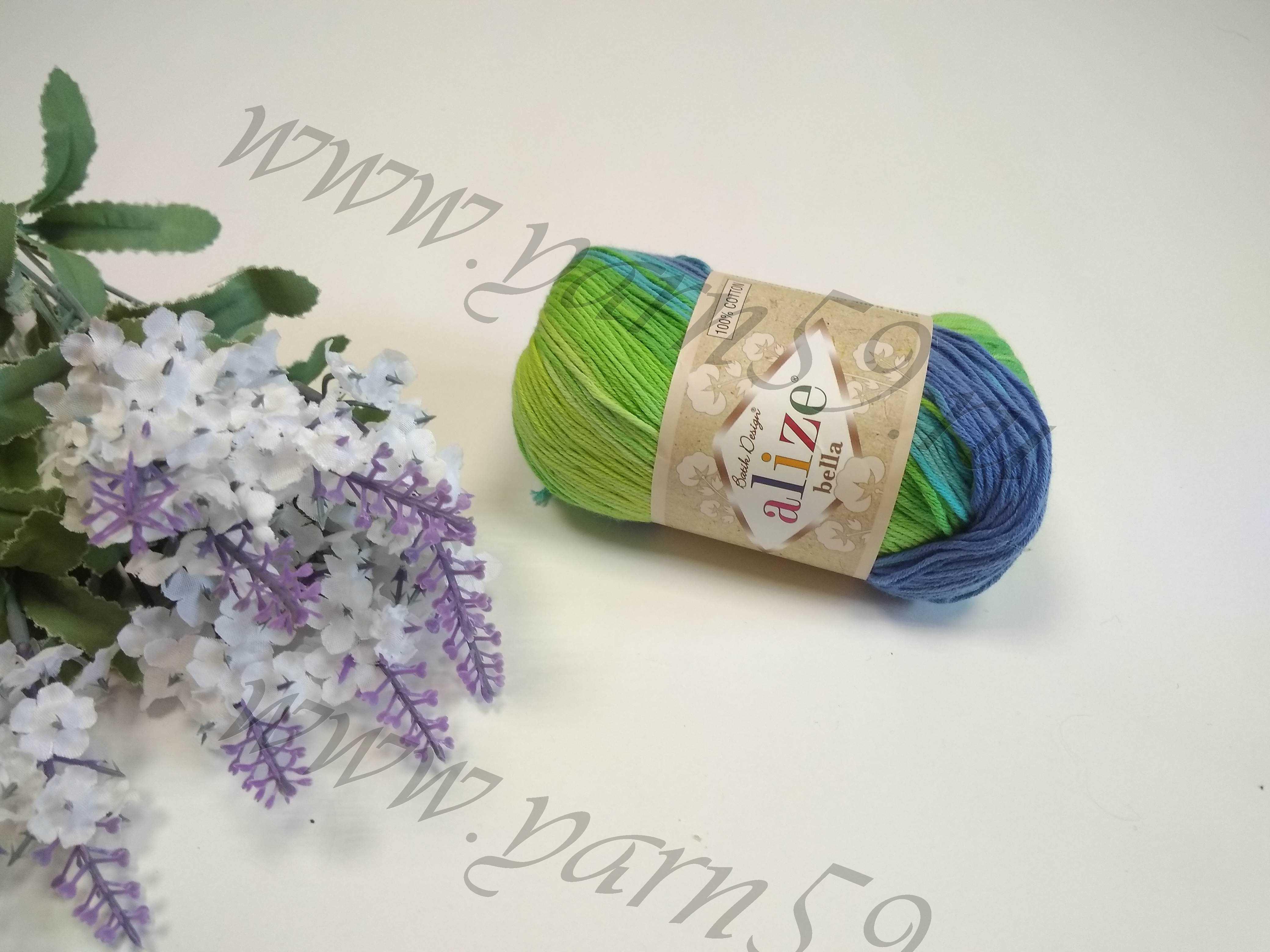 Bella batik color 4150 зеленый голубой бирюза