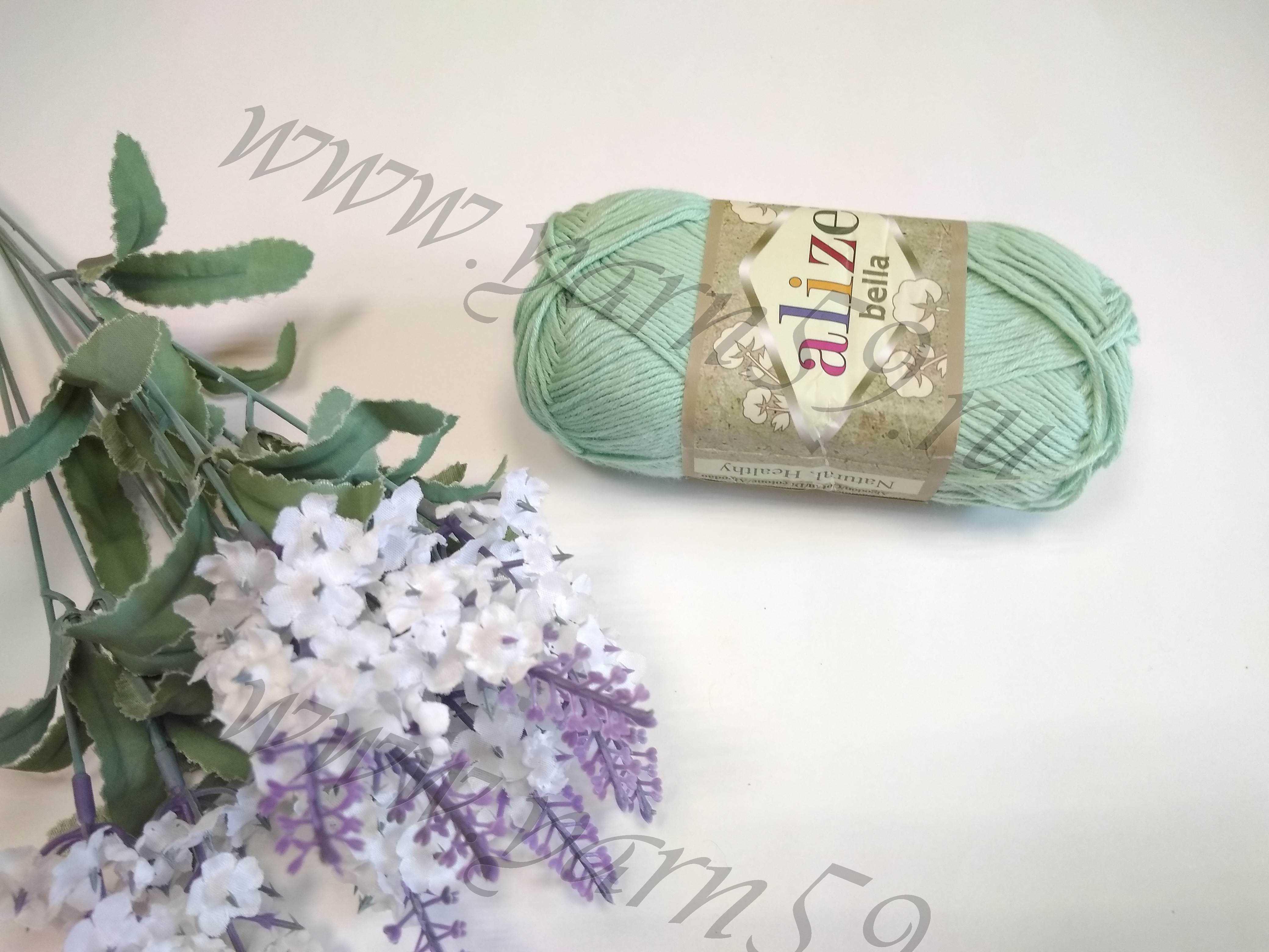 Bella color 266 зеленый (мята)